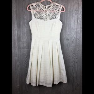 Pink Martini Off White Tweed Sleeveless Dress